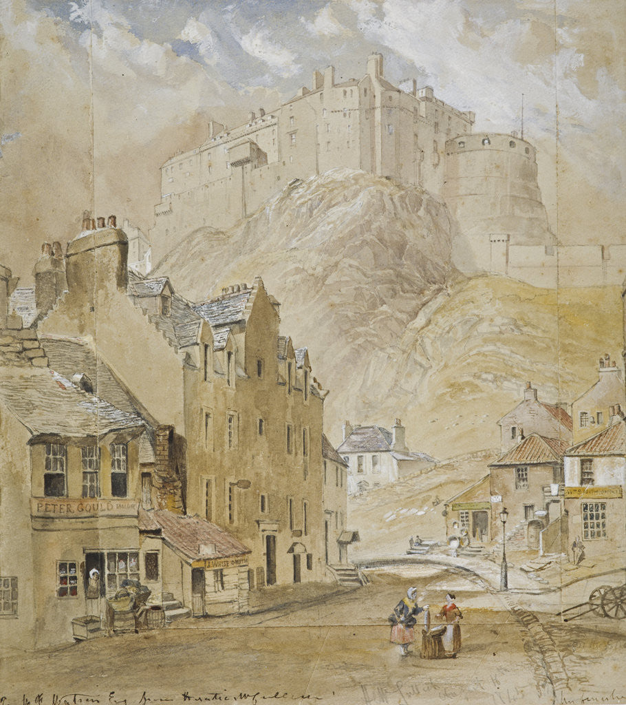 Detail of Edinburgh Castle from the Foot of the Vennel by Horatio McCulloch