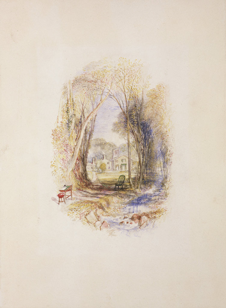 Detail of Chiefswood Cottage at Abbotsford by Joseph Mallord William Turner