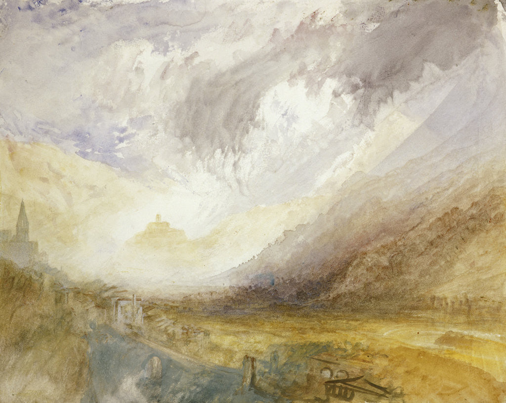 Detail of Sion, Capital of the Canton Valais by Joseph Mallord William Turner