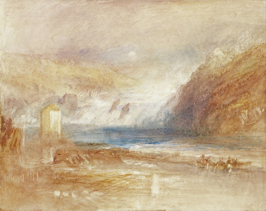 Detail of Falls of the Rhine at Schaffhausen, Front View by Joseph Mallord William Turner