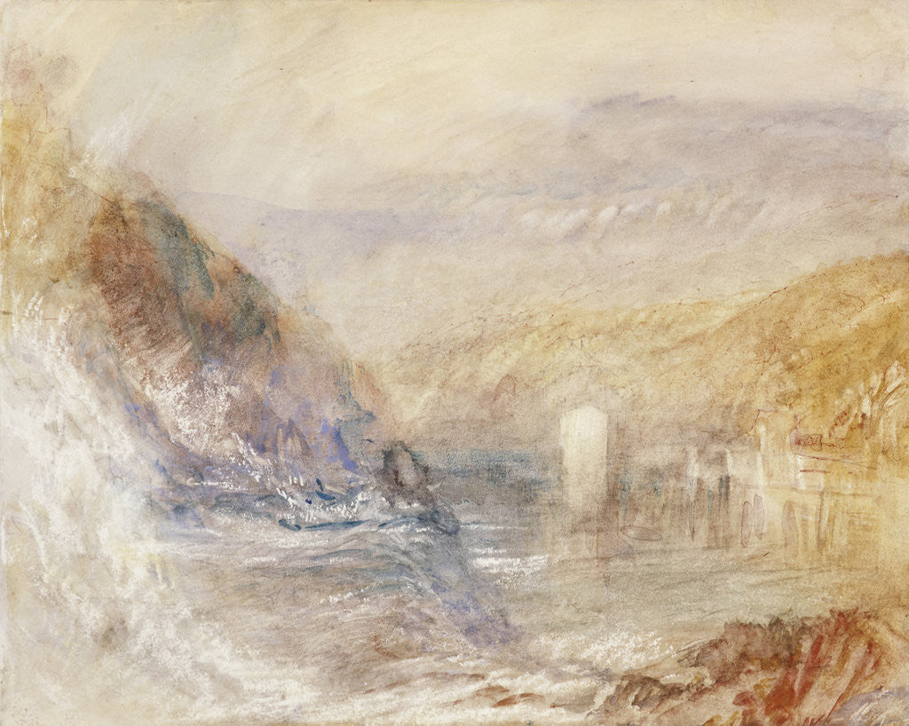 Detail of Falls of the Rhine at Schaffhausen, Side View by Joseph Mallord William Turner