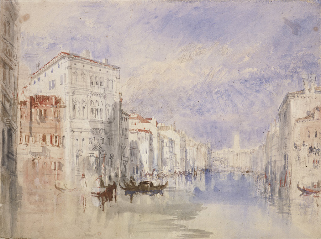 Detail of The Palazzo Balbi on the Grand Canal, Venice by Joseph Mallord William Turner