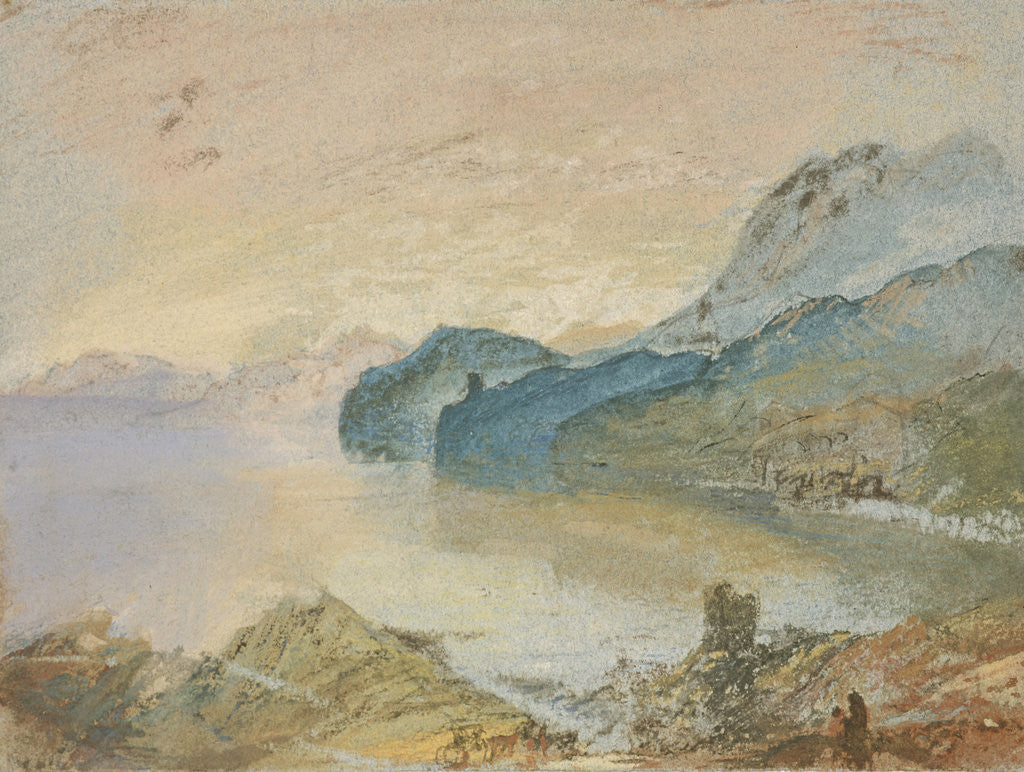 Detail of Lake Como looking towards Lecco by Joseph Mallord William Turner