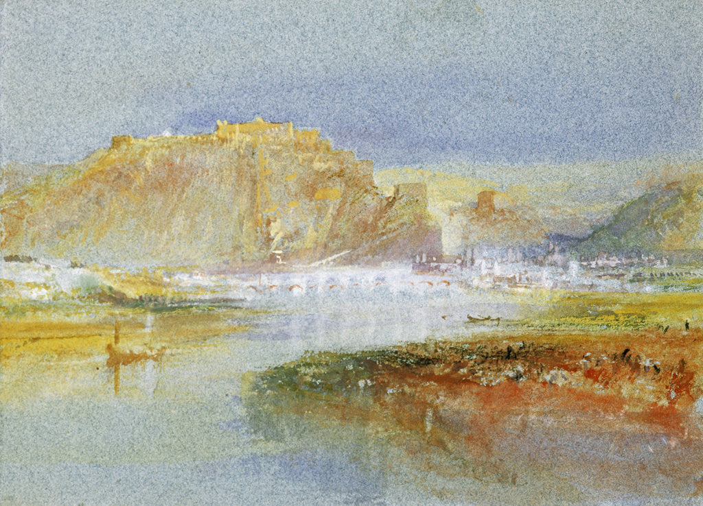 Detail of Ehrenbreitstein from the Mosel by Joseph Mallord William Turner