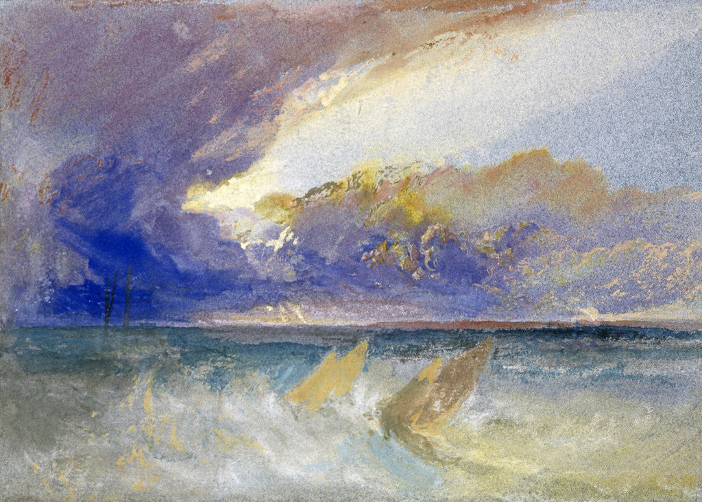 Detail of Sea View by Joseph Mallord William Turner