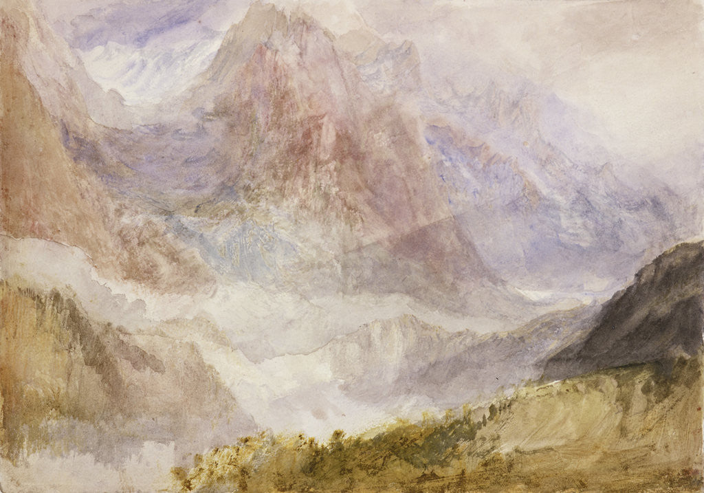 Detail of Monte Rosa (or the Mythen, near Schwytz) by Joseph Mallord William Turner