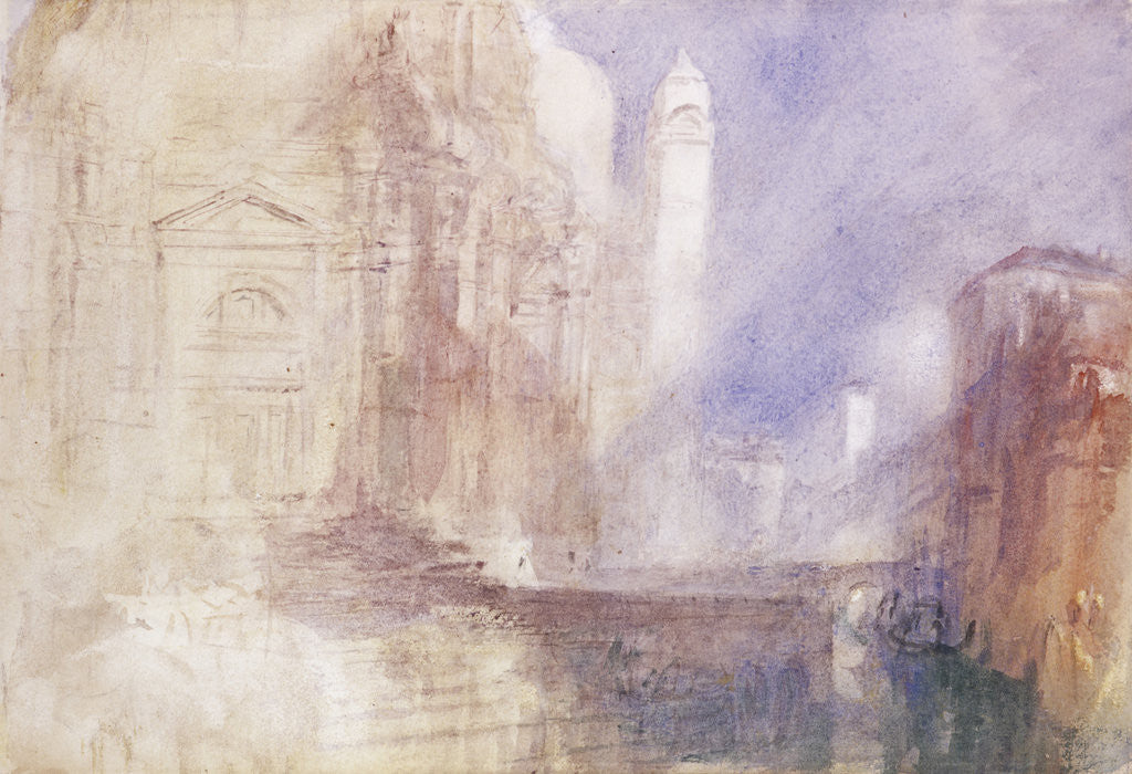 Detail of The Grand Canal by the Salute, Venice by Joseph Mallord William Turner