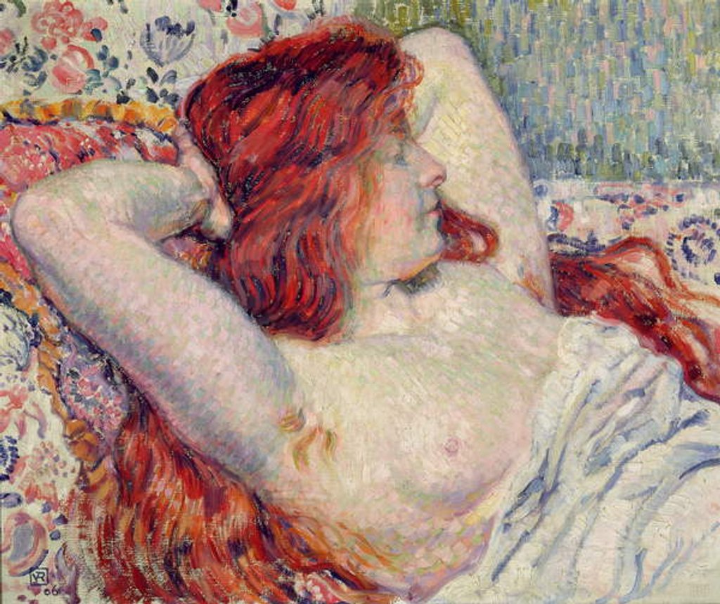 Detail of Woman with Red Hair, 1906 by Theo van Rysselberghe