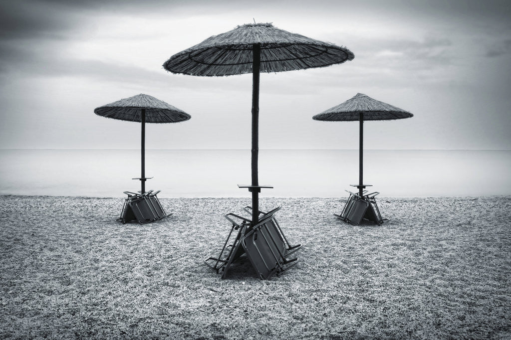 Detail of Beach Umbrellas by Eugenia Kyriakopoulou