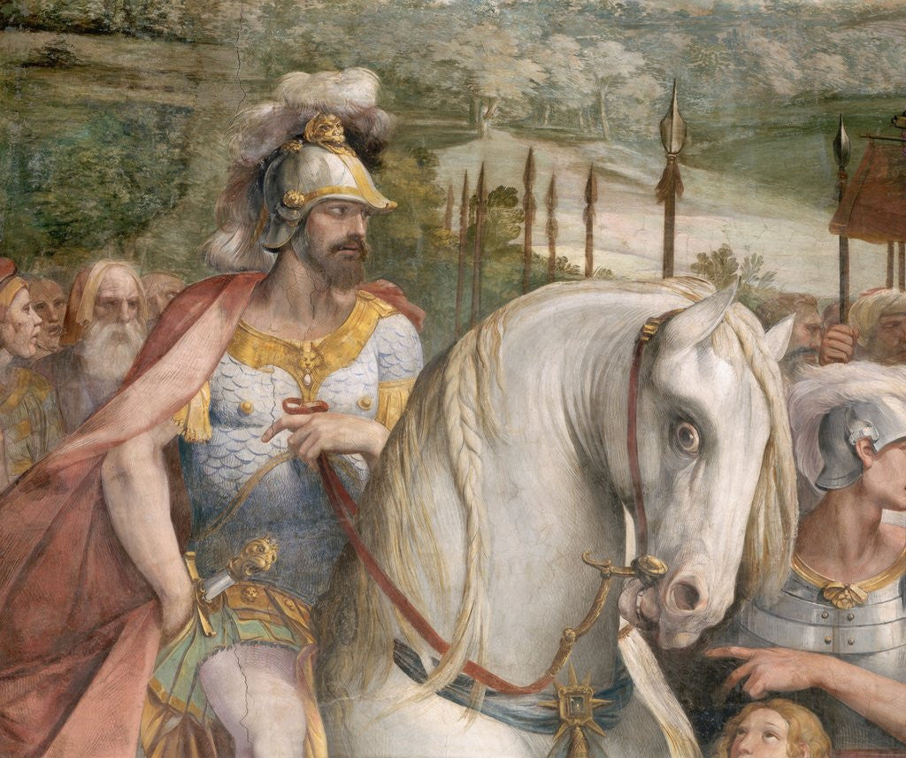 Detail Showing an Armored Man on Horseback from the Oath of the Horatii by Giuseppe Cesari