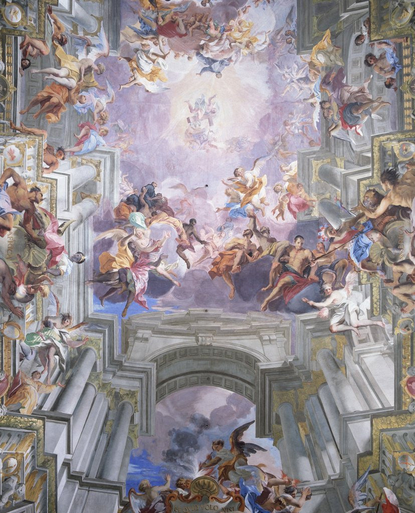 Detail of Detail of Heaven and Angels from The Glorification of Saint Ignatius by Andrea Pozzo