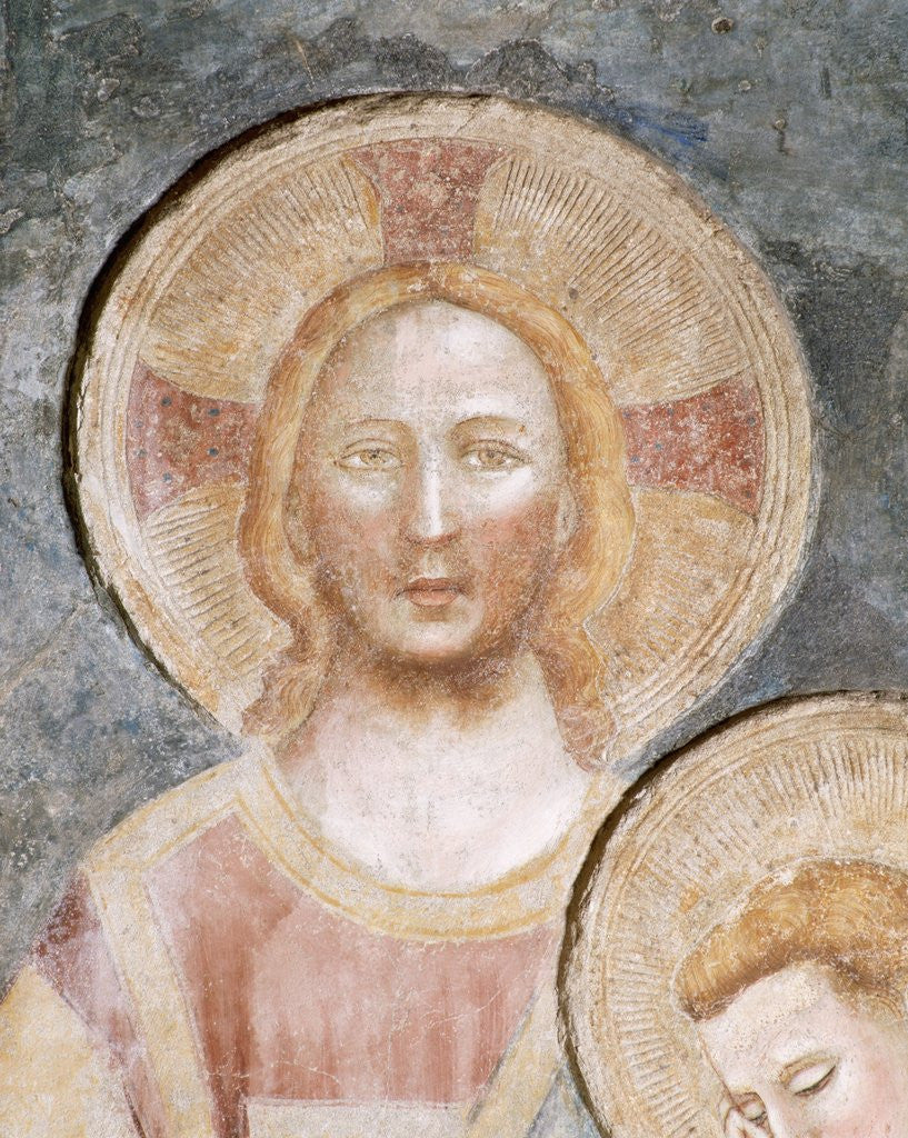 Detail of Detail of Christ's Head in The Last Supper from the Refectory of the Abbey of Pomposa by Corbis