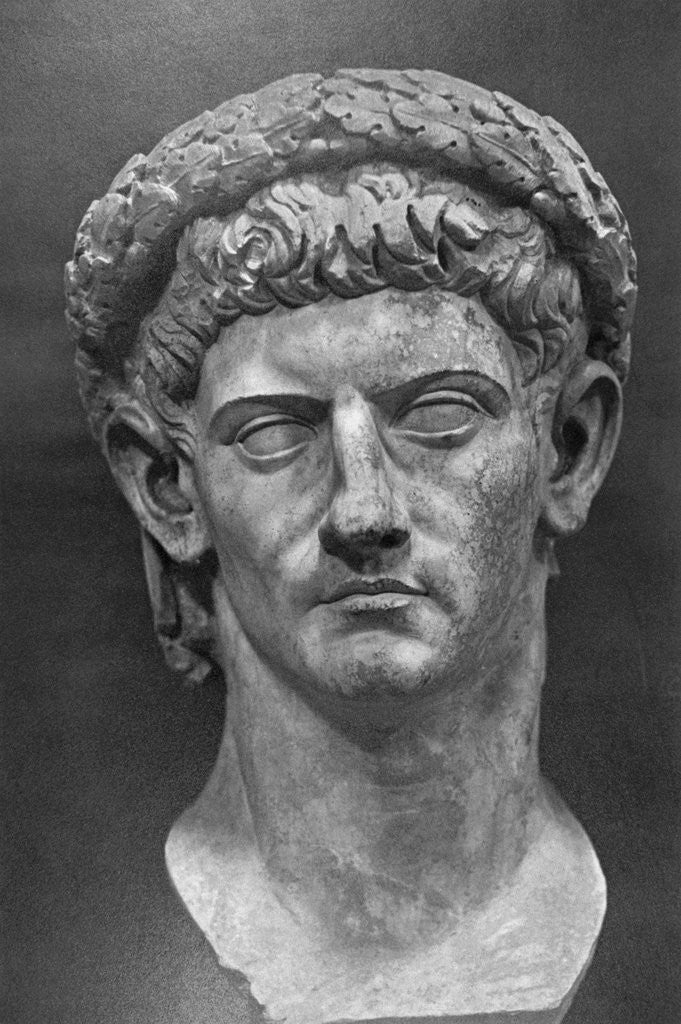 Detail of Bust of Claudius by Corbis