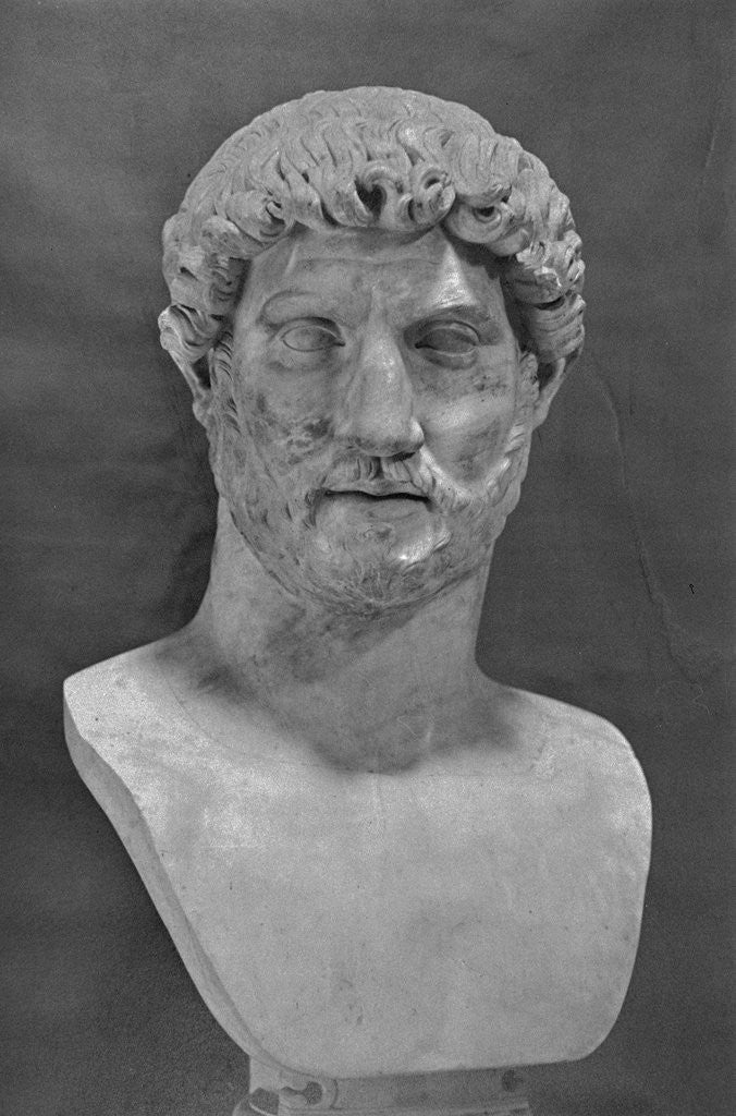 Detail of Bust of Hadrian by Corbis