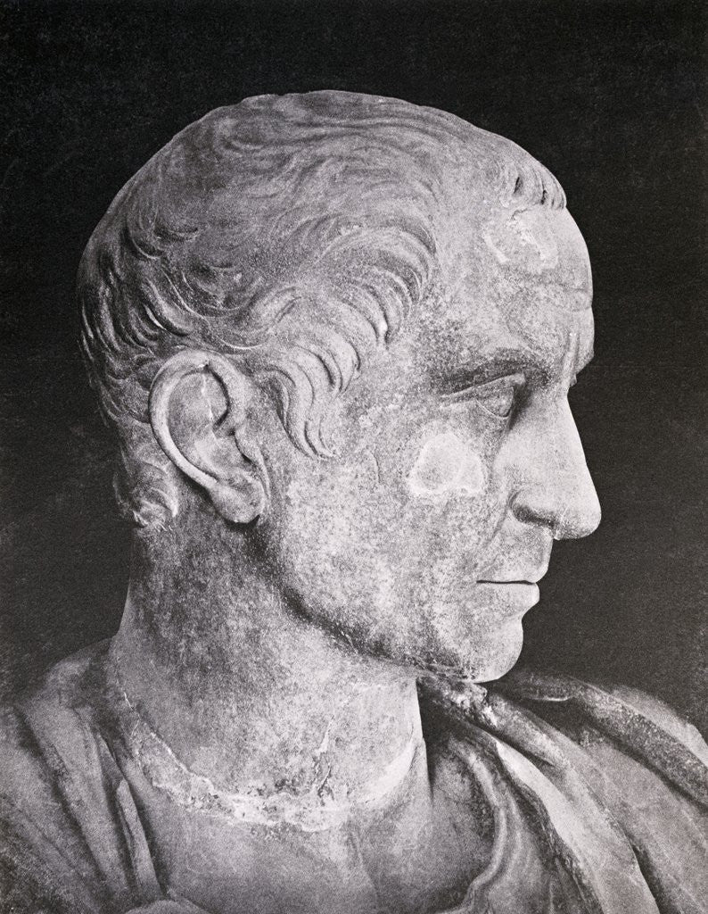 Detail of Bust of Julius Caesar by Corbis