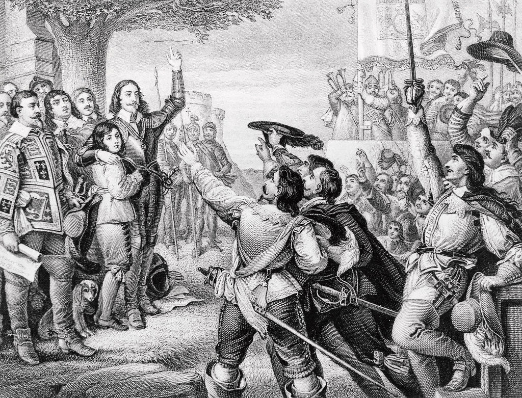 Detail of Charles I Errecting his Standard by Corbis
