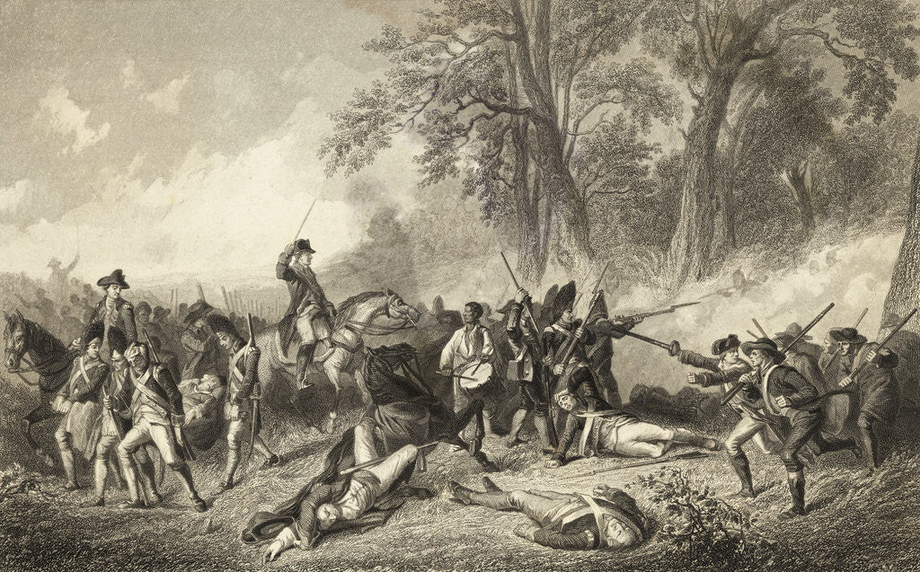 Detail of Engraving of the Fall of General Braddock by Corbis