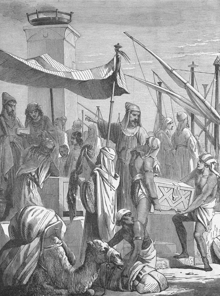 Detail of Illustration of Babylonian Merchants by Corbis