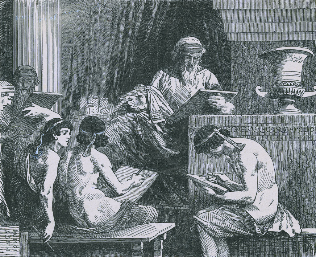 Detail of Solon Dictating His Laws by Corbis
