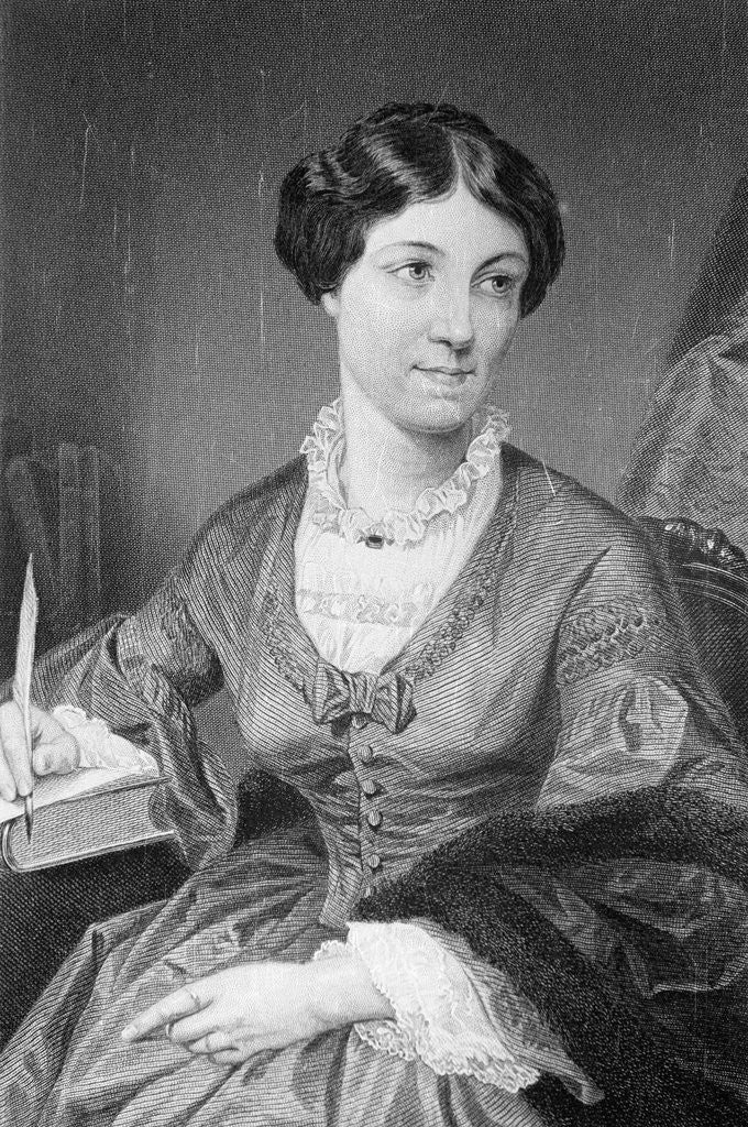 Detail of Illustration of British Writer Harriet Martineau by Corbis