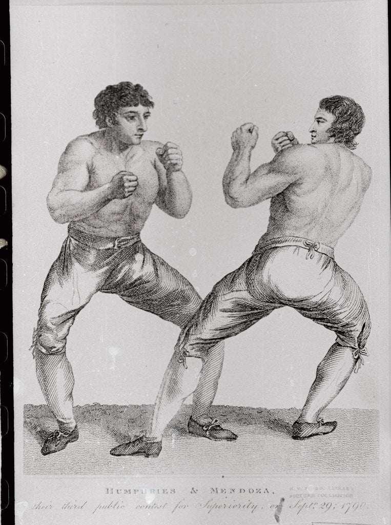 Detail of Print of Richard Humphreys and Daniel Mendoza Boxing by Corbis