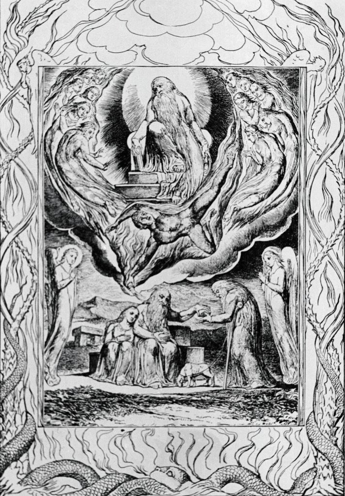 Detail of Illustration from Book of Job by William Blake