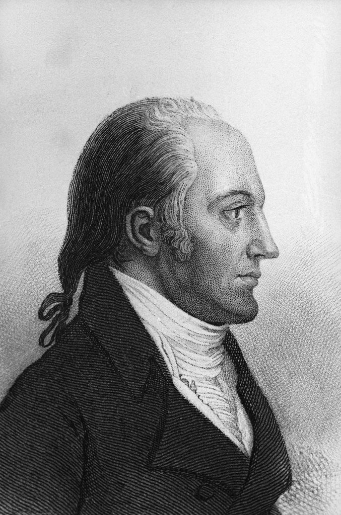 Detail of Side View Portrait of Aaron Burr by Corbis