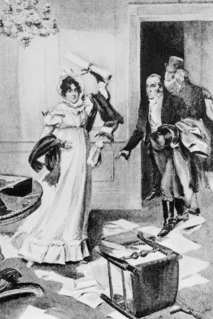 Detail of Dolley Madison Saving Declaration of Independence by Corbis
