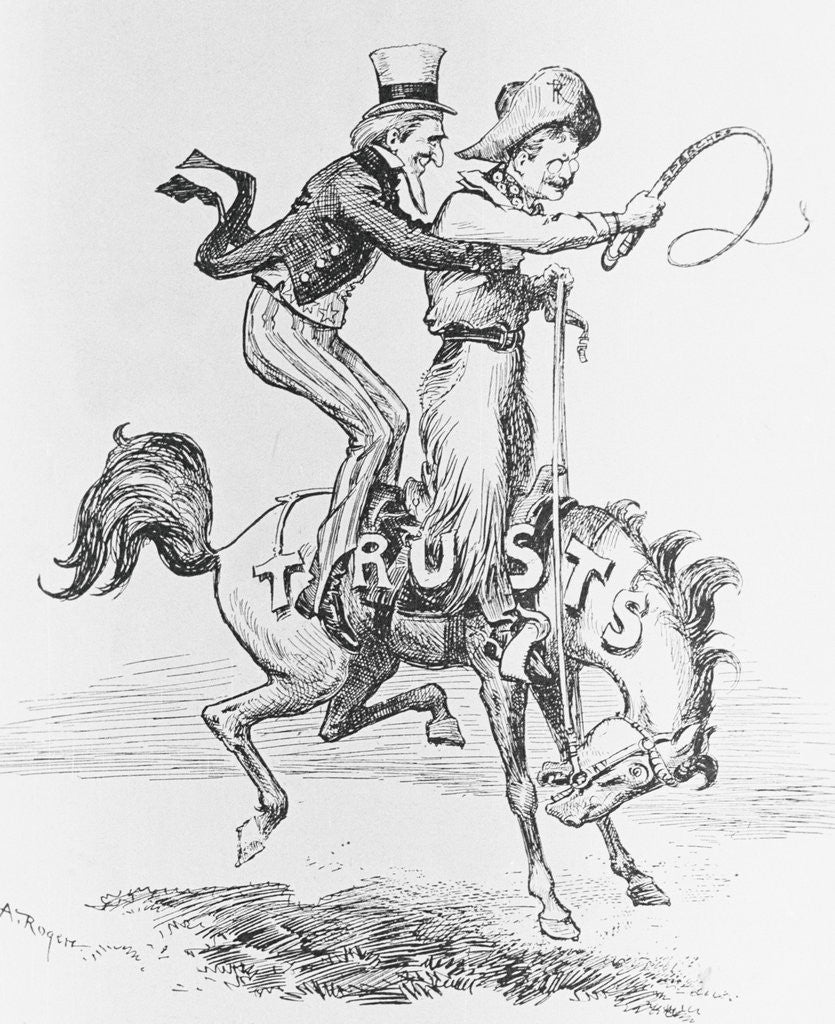 Detail of Bronco Billy with Galloping Horse by Corbis