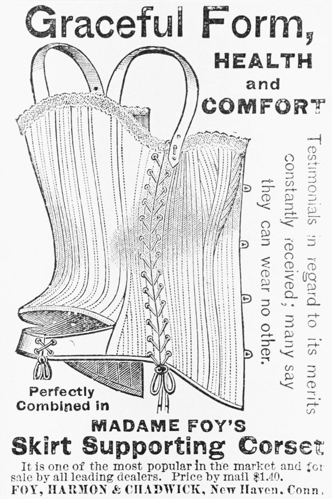 Advertisement for Madame Foy's Skirt Supporting Corset