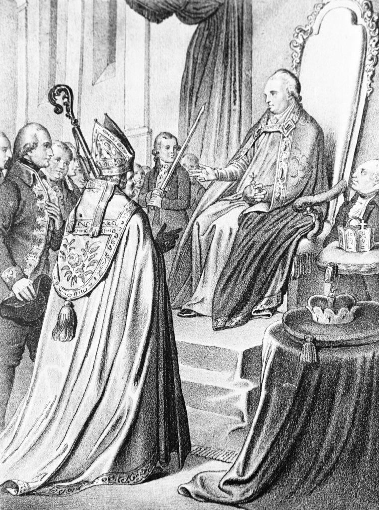 Detail of Crowning Leopold II Emperor by Corbis