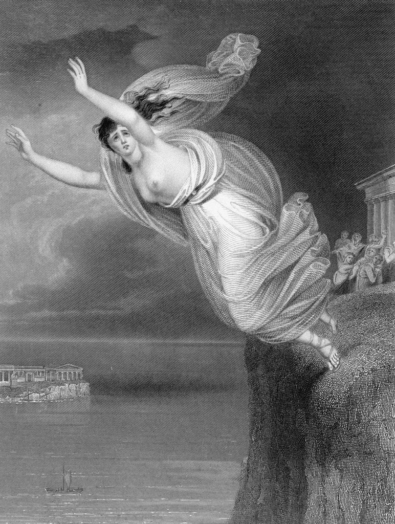 Detail of Illustration of Sappho Jumping to Her Death by Corbis