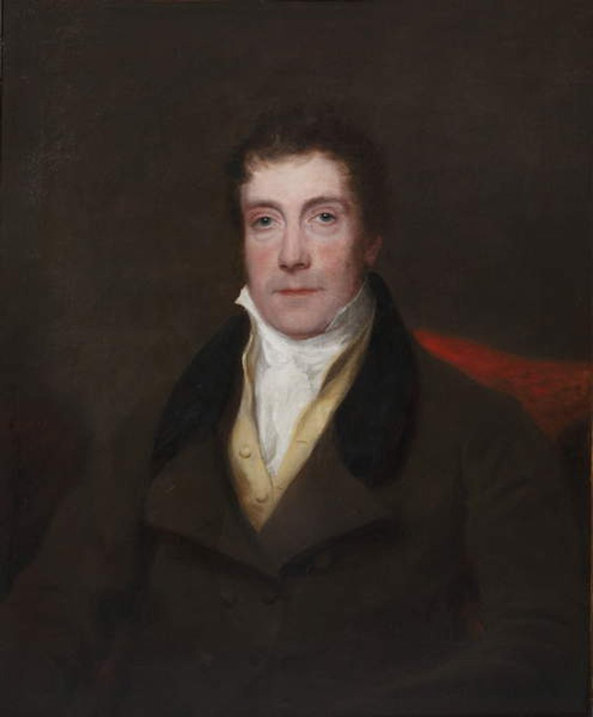 Detail of Portrait of George Beadnell, 1830-35 by Henry William Pickersgill