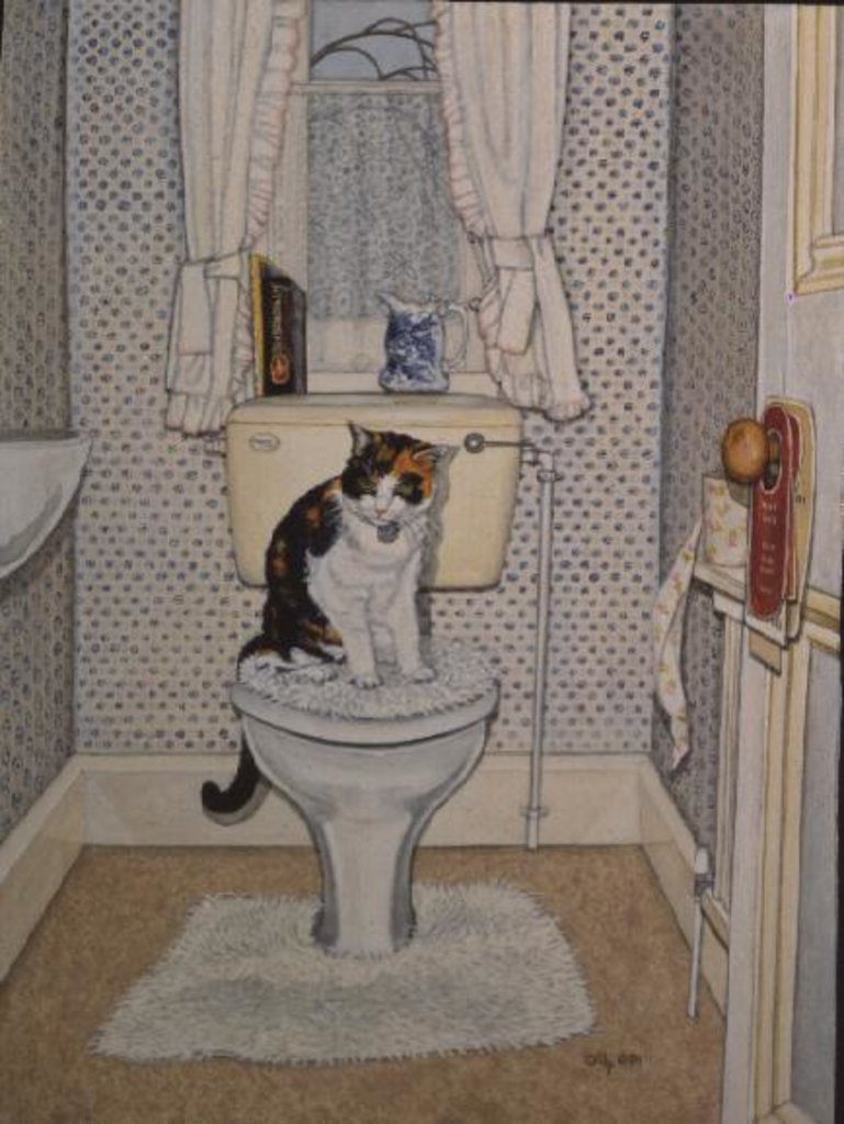 Detail of Cat on the Loo, 1991 by Ditz Ditz