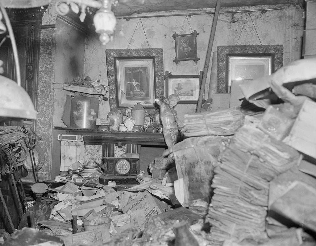 Detail of Clutter Filled Room in the Collyer House by Corbis