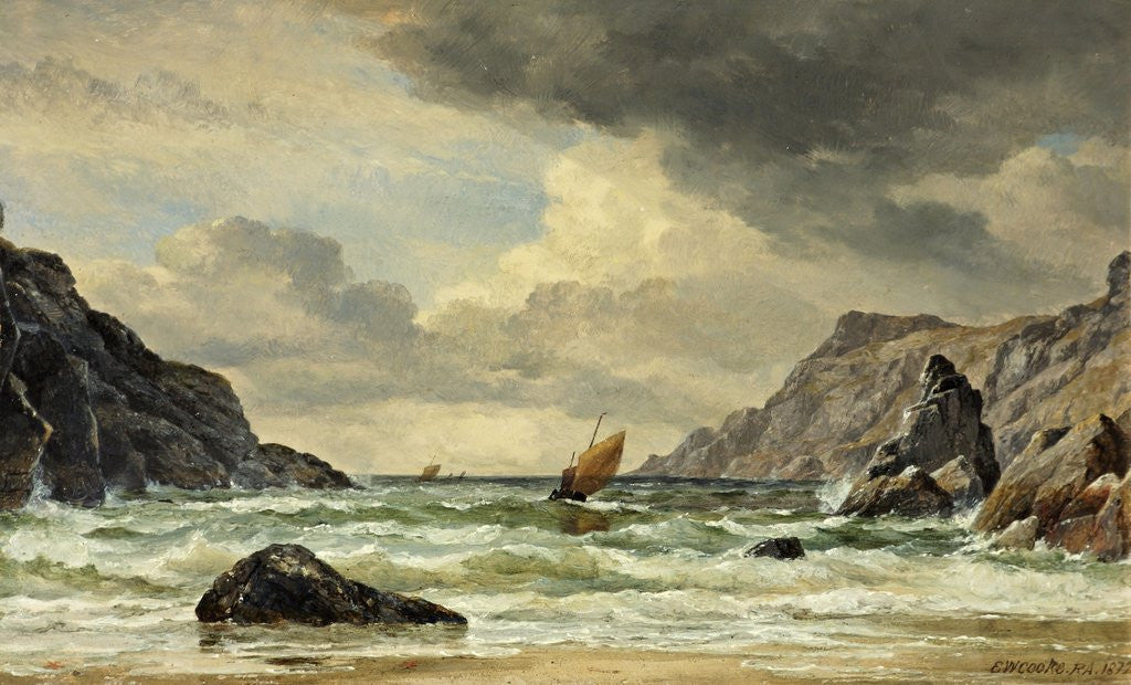 Detail of Kynance Cove, The Lizard, Cornwall by Edward William Cooke