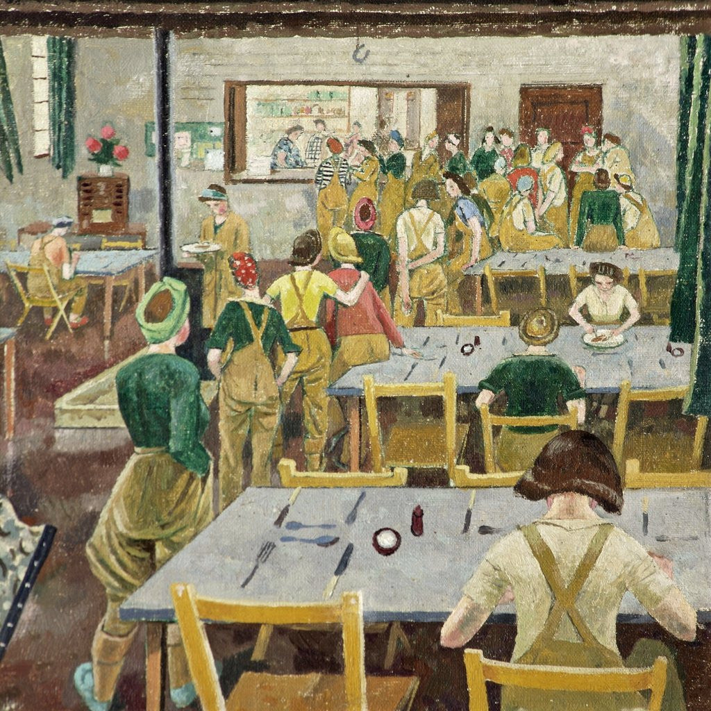 Detail of Womens Land Army Hostel by Evelyn Dunbar