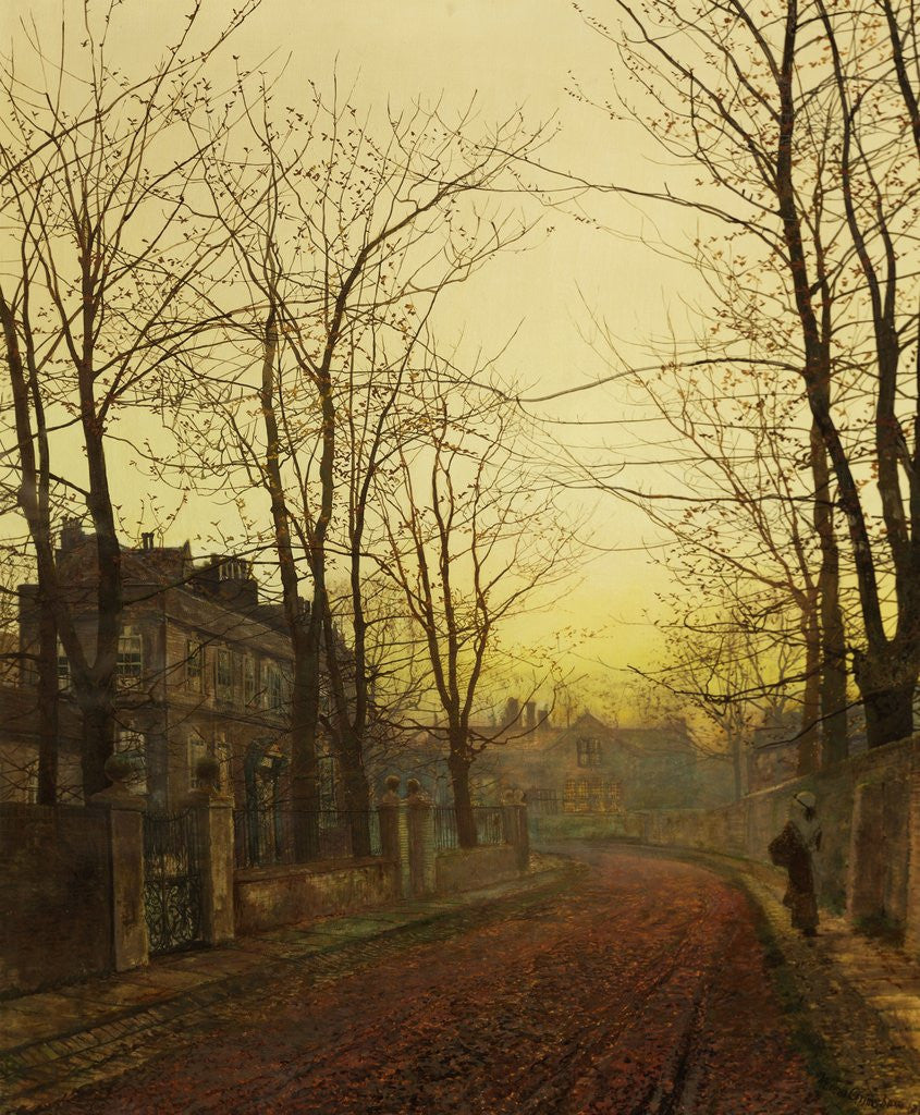 Detail of An Autumn Idyll by John Atkinson Grimshaw