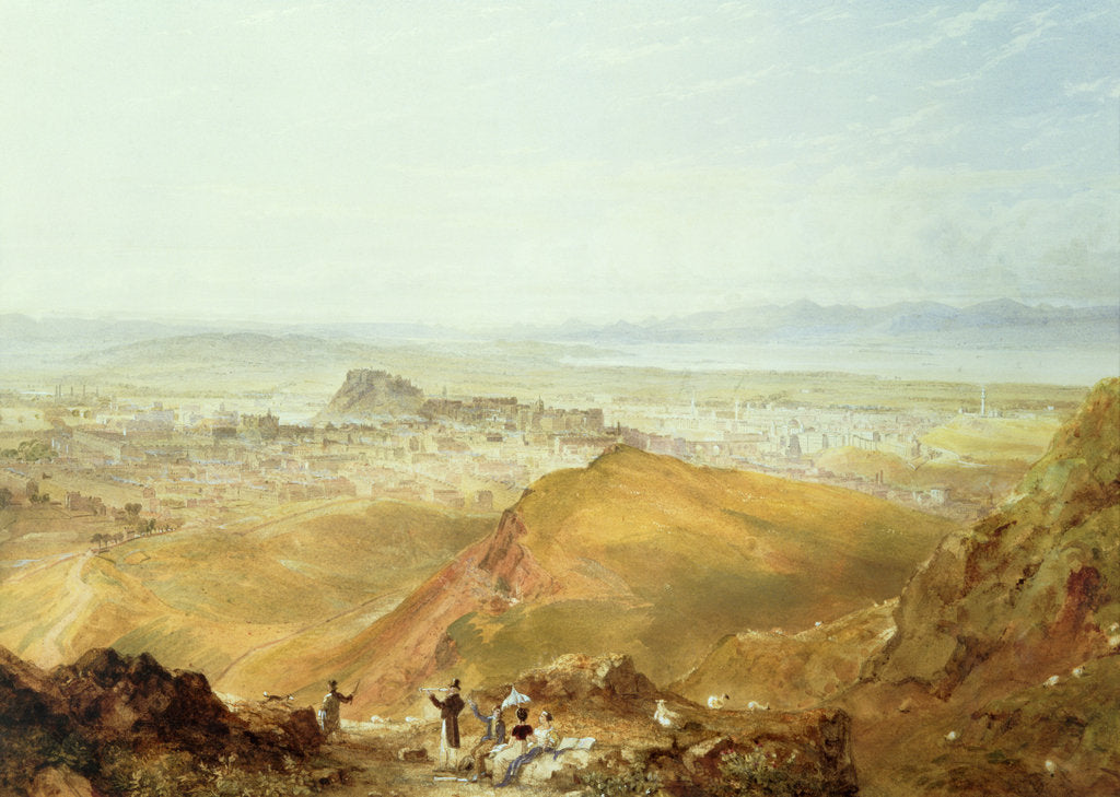 Detail of View of Edinburgh from Arthur's Seat by Hugh William Williams