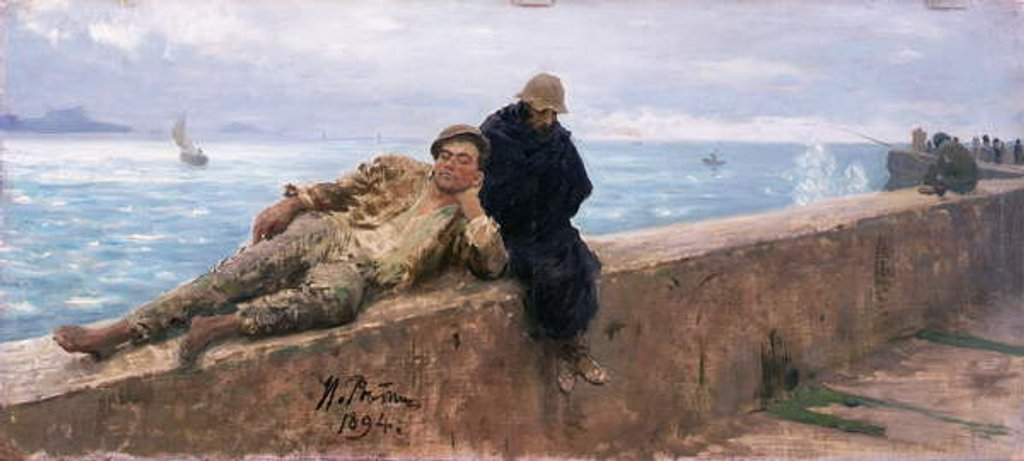 Detail of Study of Vagabonds, 1894 by Ilya Efimovich Repin