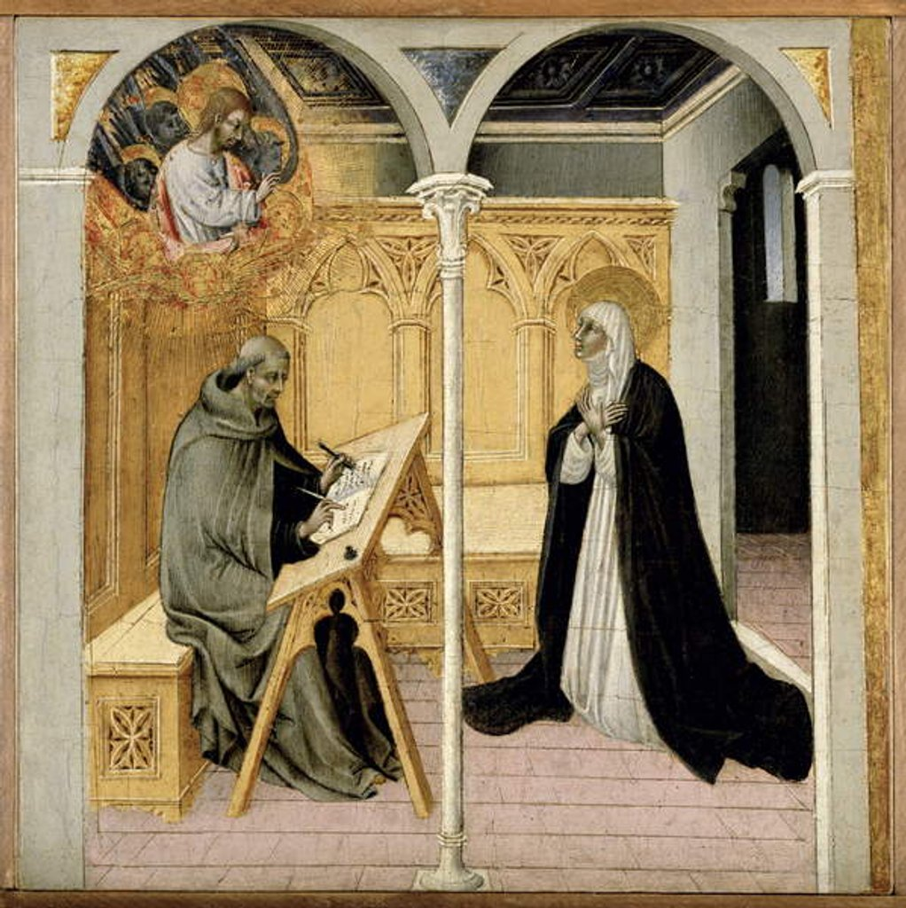 Detail of St. Catherine of Siena Dictating Her Dialogues, c.1447-61 by Giovanni di Paolo di Grazia