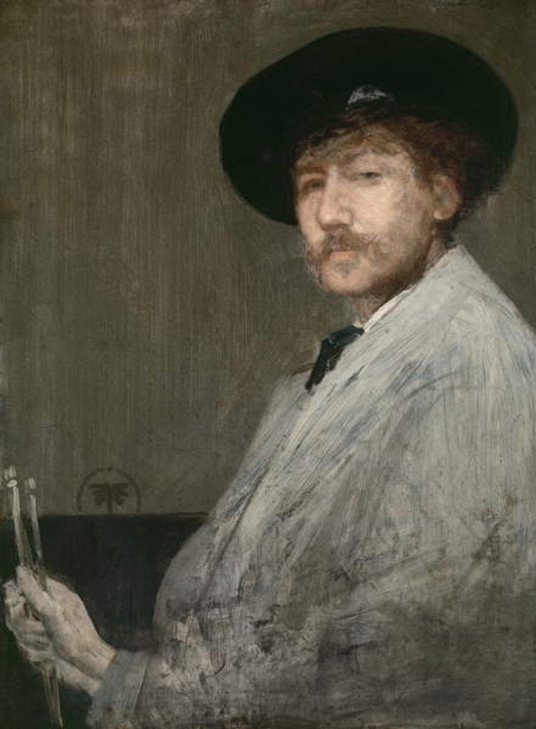 Detail of Arrangement in Grey: Portrait of the Painter, c.1872 by James Abbott McNeill Whistler
