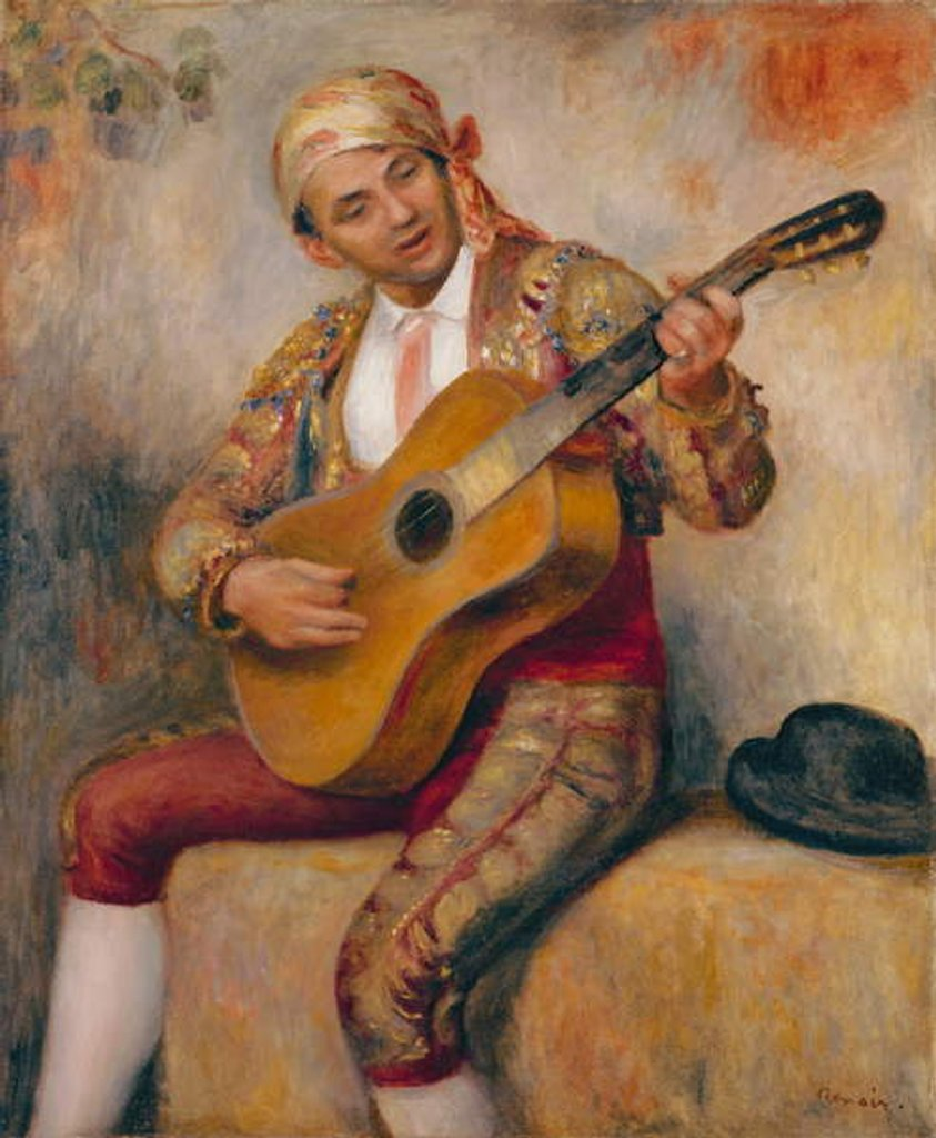 Detail of The Spanish Guitarist, 1894 by Pierre Auguste Renoir