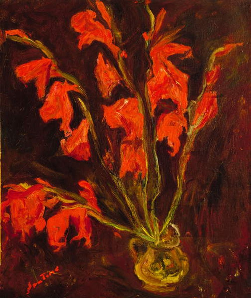 Detail of Red Gladioli, c.1919 by Chaim Soutine