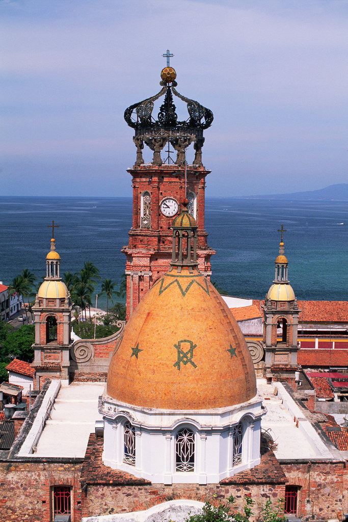 Detail of Dome of Puerto Vallarta Church by Corbis