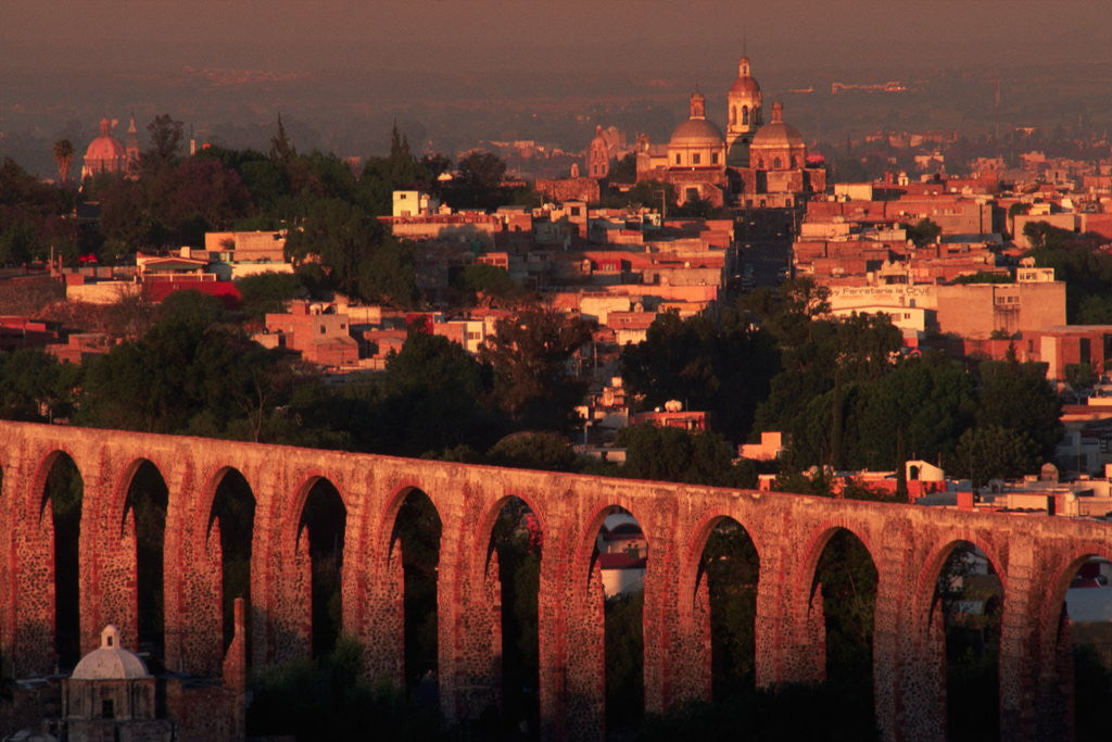 Detail of Aqueduct of Queretaro by Corbis