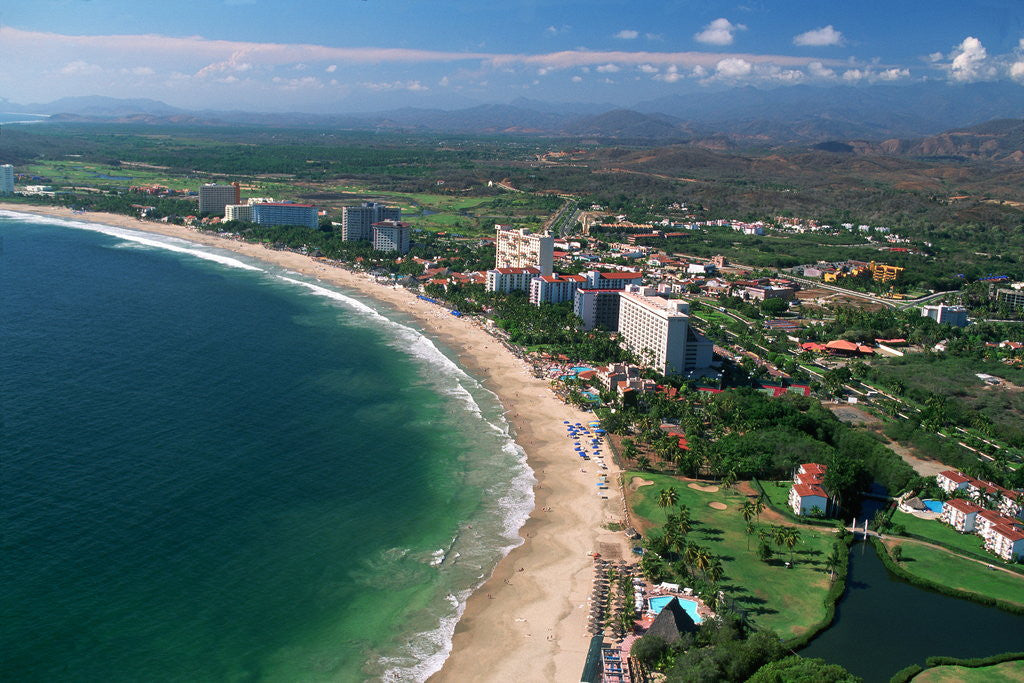 Detail of Aerial of Ixtapa Oceanfront by Corbis