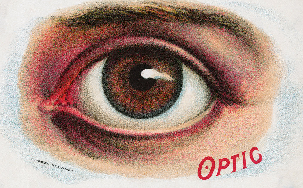 Detail of Advertisement for Contact Lenses by Corbis