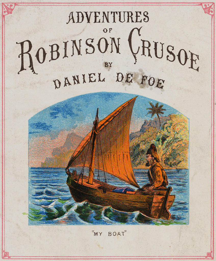 Detail of Cover for Adventures of Robinson Crusoe by Corbis