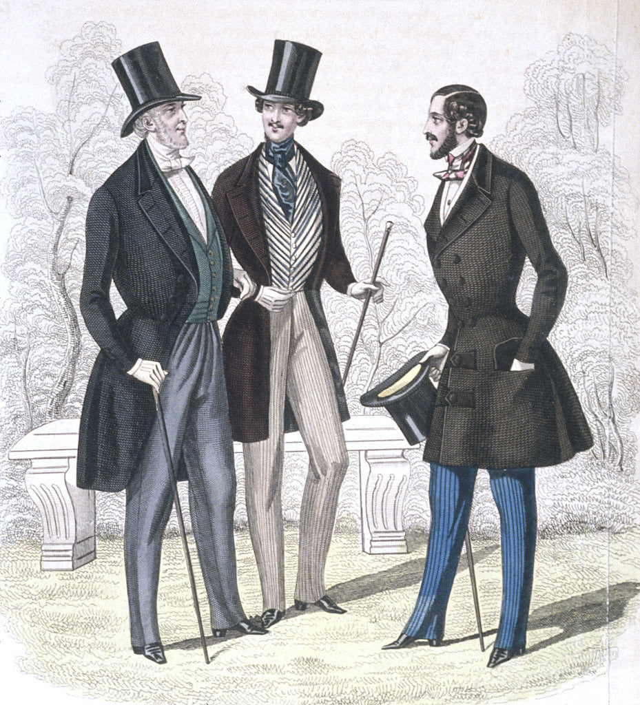 Detail of Illustration of Nineteeth Century Men's Fashions by Corbis